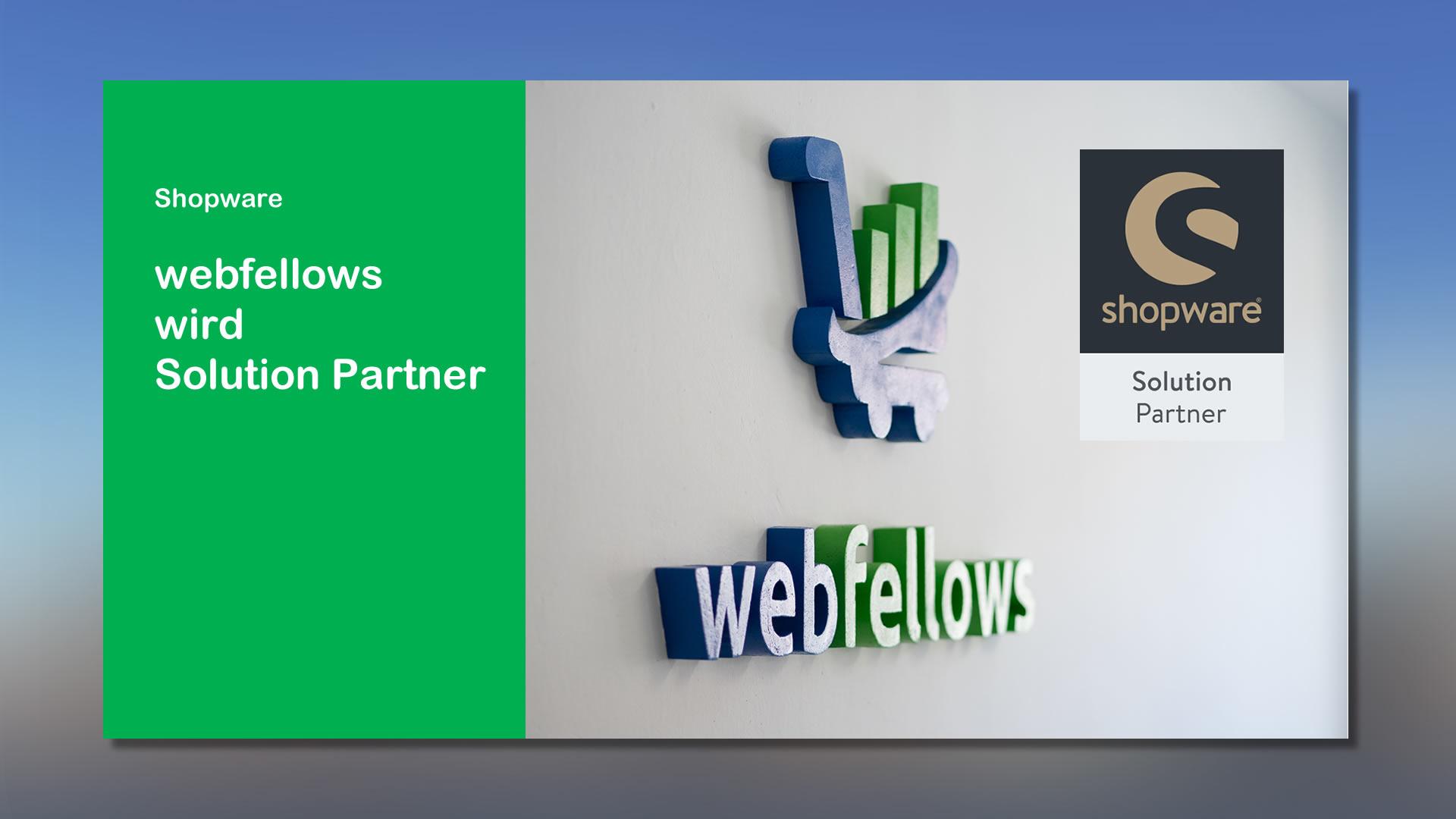 webfellows wird Shopware Solution Partner