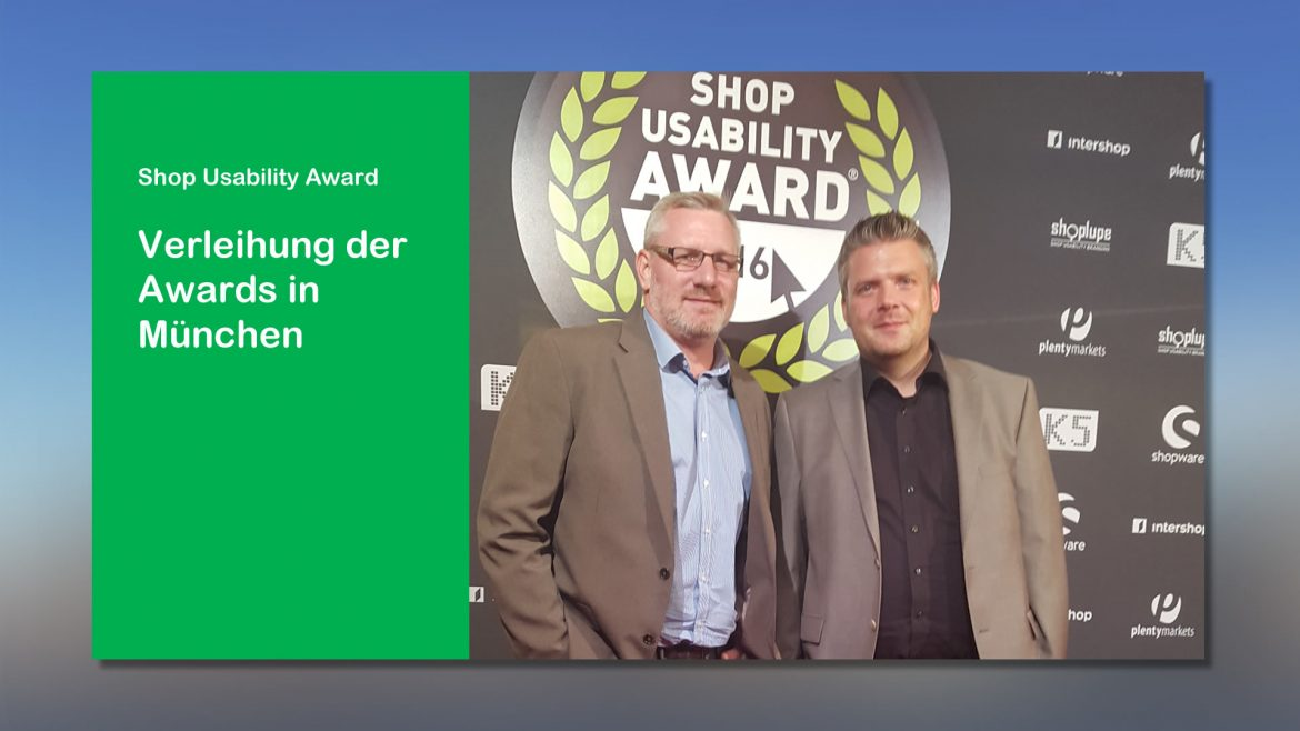 News webfellows Shop Usability Award in München