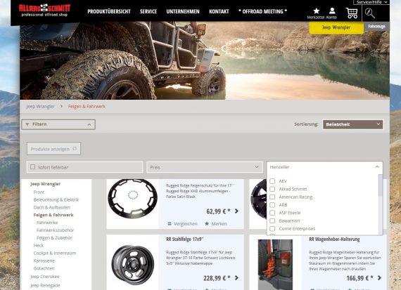 webfellows Referenz Allrad Schmitt Kategorieseite