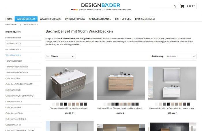 webfellows Referenz Designbäder Kategorieseite