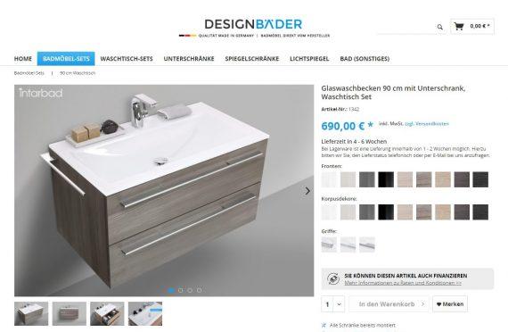 webfellows Referenz Designbäder Detailseite