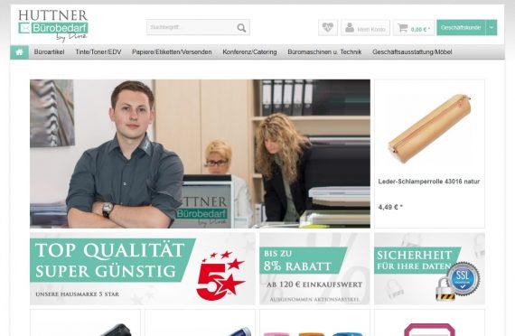 webfellows Referenz Huttner Startseite