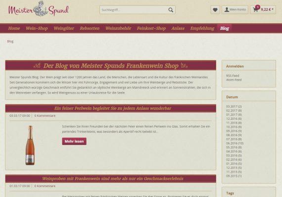 Shopware Referenz meister-spund.de Blog