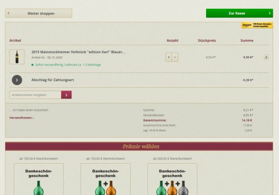 Shopware Referenz meister-spund.de Warenkorb