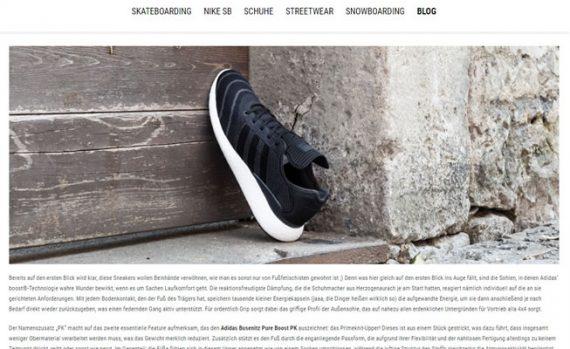 Shopware Referenz Blowout Blogseite