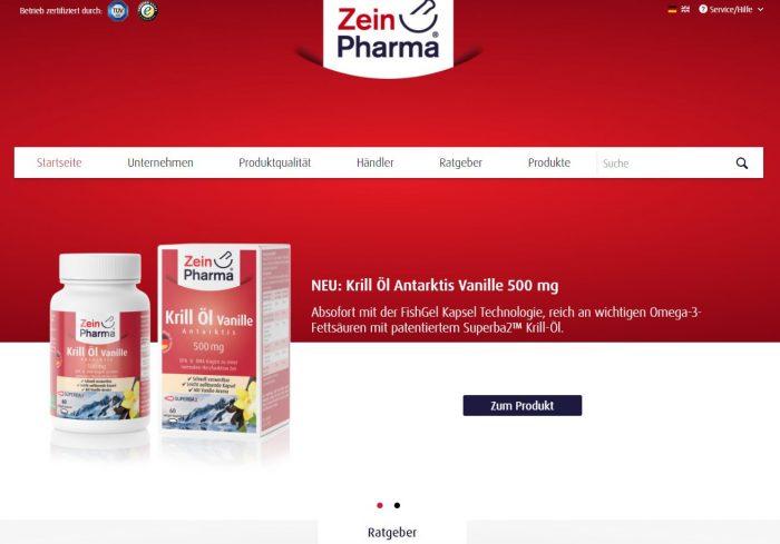 Shopware Referenz Zeinpharma Startseite