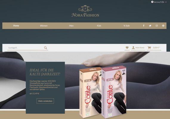 Referenz Nora Fashion Slider