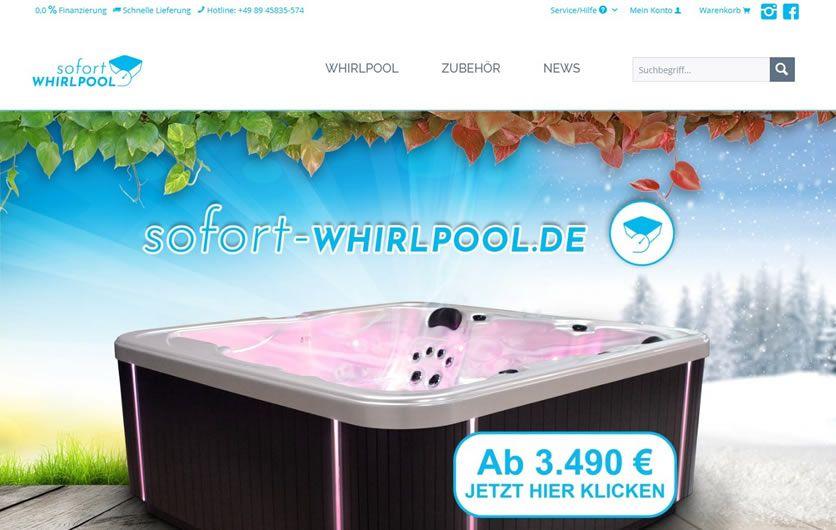 Sofort Whirlpool - Website Relaunch webfellows (desktop)