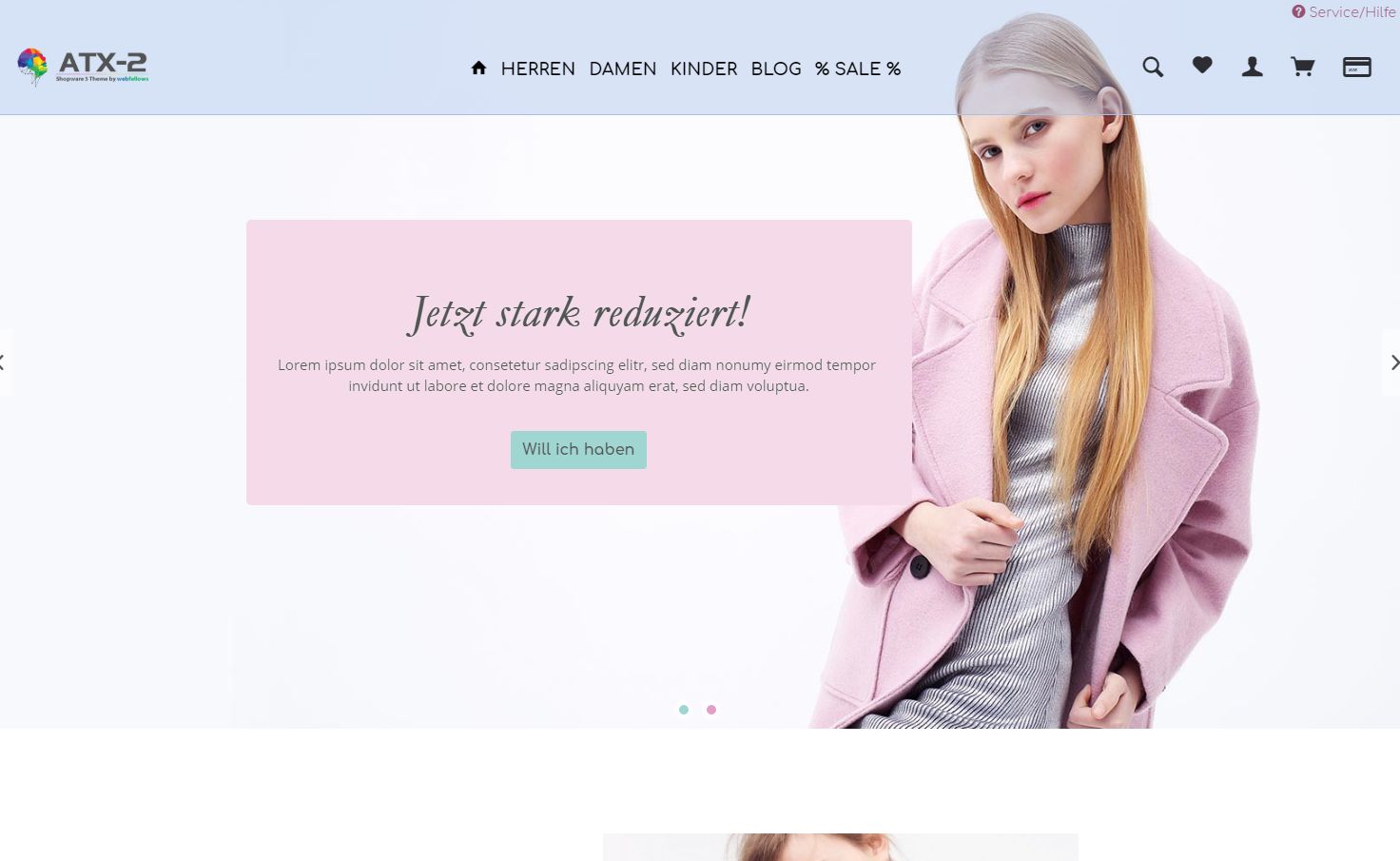 ATX2 Shopware Theme Fashion